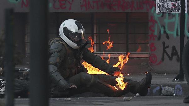 شیلی در آتش