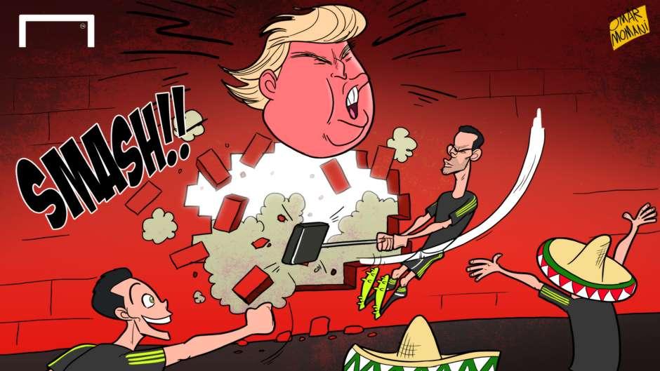 «کامبک ترامپ» در زمین فوتبالیها