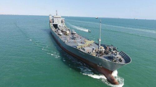 آیین الحاق ناو اقیانوس پیمای شهید رودکی به نیروی دریایی سپاه