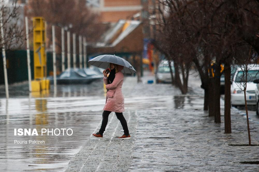 بارش باران در بیشتر مناطق کشور