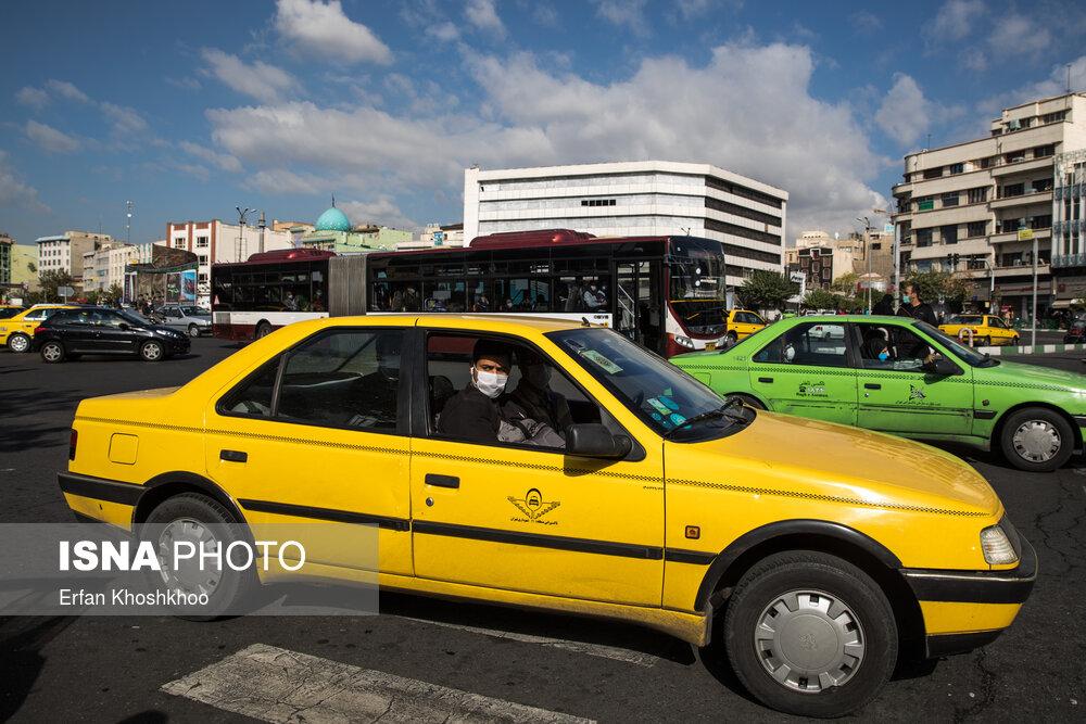 جریمه عدم استفاده از ماسک در خودروها در کرج