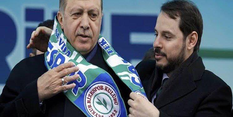 استعفای داماد اردوغان از وزارت خزانهداری ترکیه