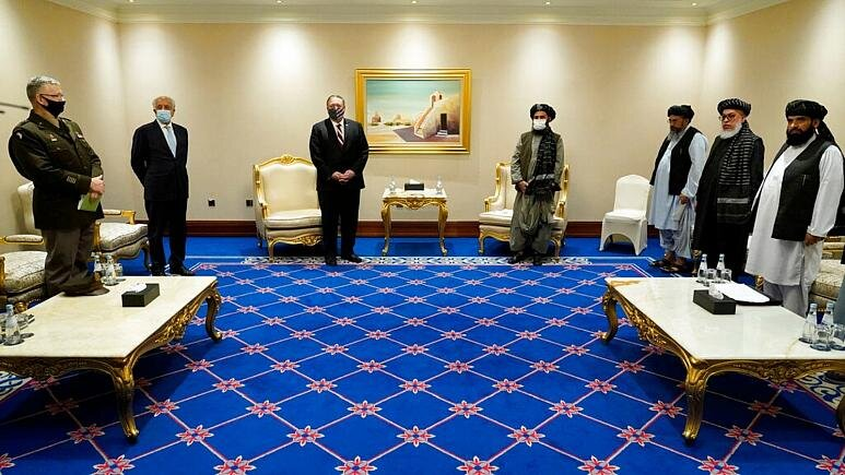 دیدار بینتیجه پامپئو با نمایندگان طالبان