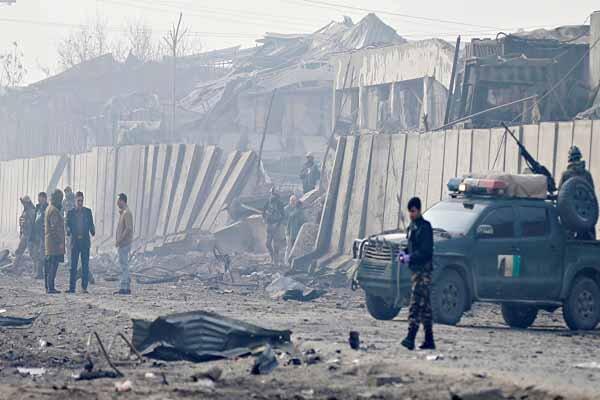 انفجارهای متمادی در کابل