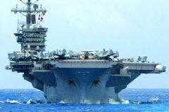 ناو هواپیمابر  آمریکا از خاورمیانه خارج می شود