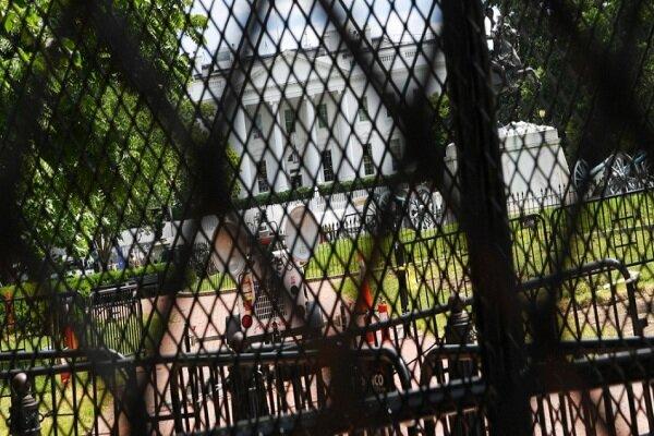 محافظت شدید از کاخ سفید + تصاویر