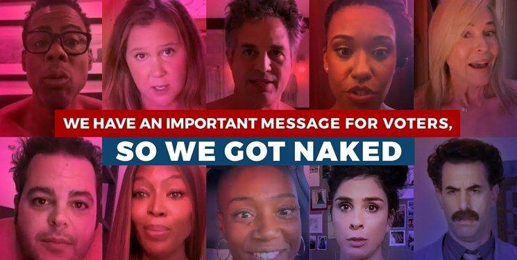 بازیگران آمریکایی به خاطر رای جمعکردن برهنه شدند