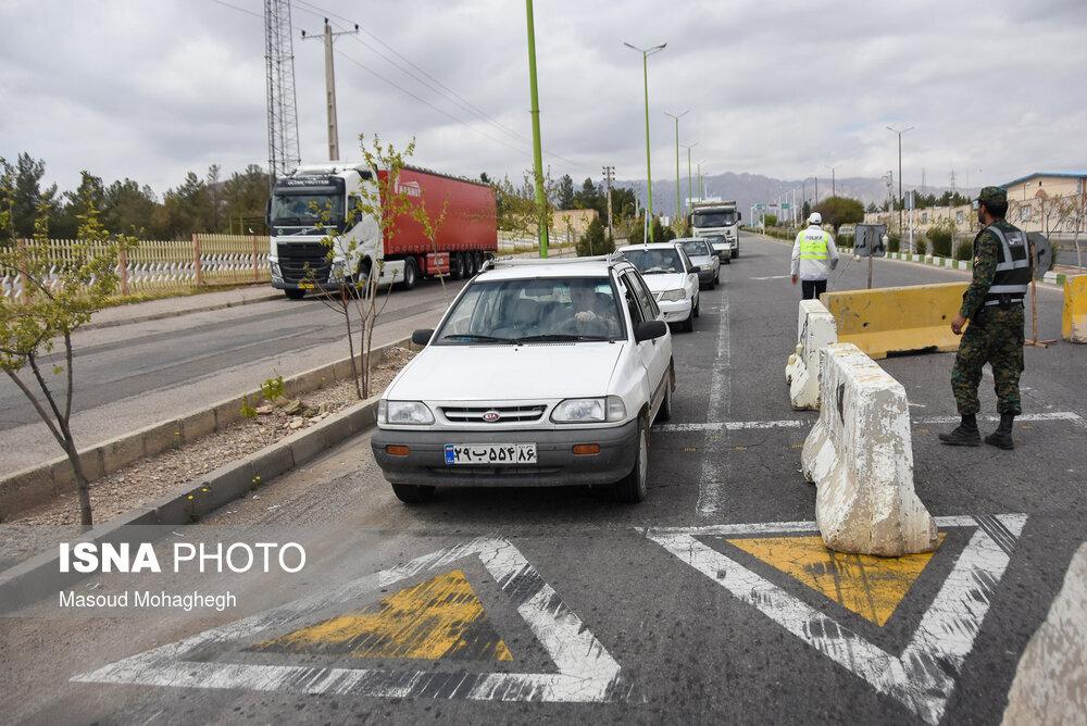 کاهش تردد خودروهای شخصی در جادهها